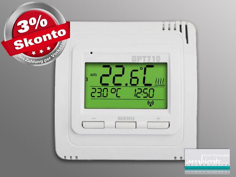 infrarotheizung steuerung funk thermostat bpt710 einzeln infrarotheizung store infranomic. Black Bedroom Furniture Sets. Home Design Ideas