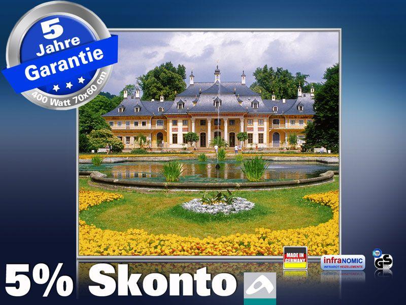 Infrarot Bildheizung 400 Watt 70x60 M10-SL Schloss Pillnitz