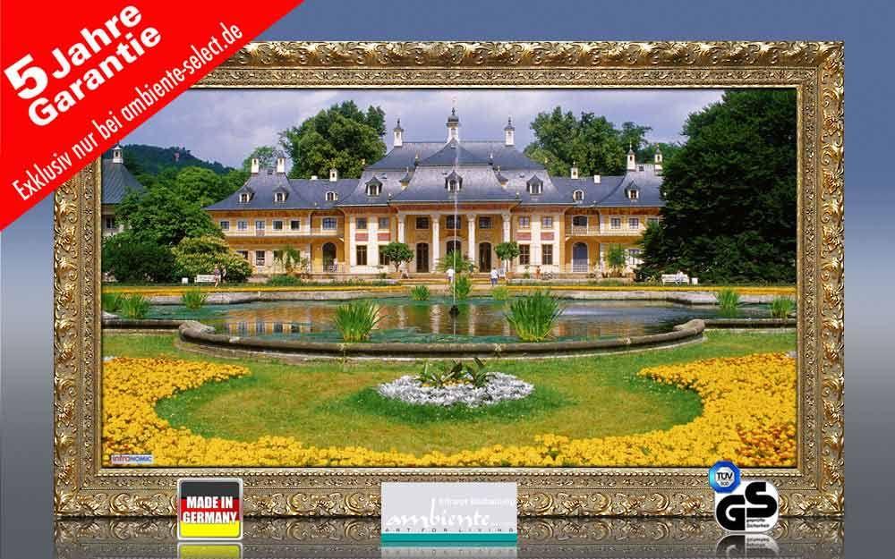 Infrarot Bildheizung 600 Watt 110x60 Stilrahmen StG Schloss Pillnitz