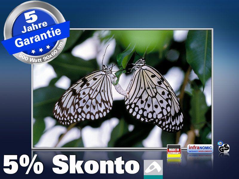 infrarot Bildheizung 500 Watt 90x60 M10-SL Schmetterlinge