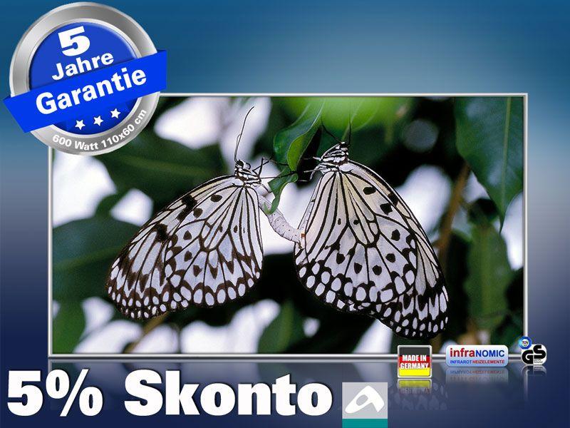 Infrarot Bildheizung 600 Watt 110x60 M10-SL Schmetterlinge