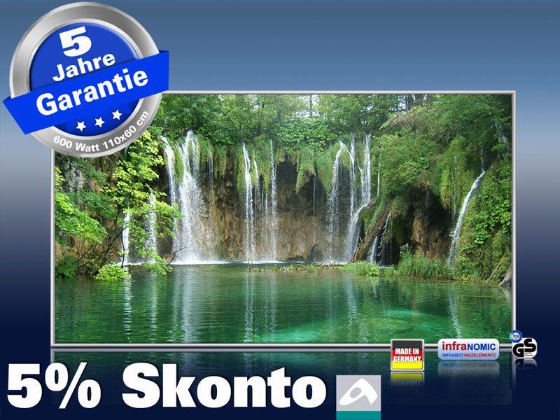 Infrarot Bildheizung 600 Watt 110x60 M10-SL Wasserfall