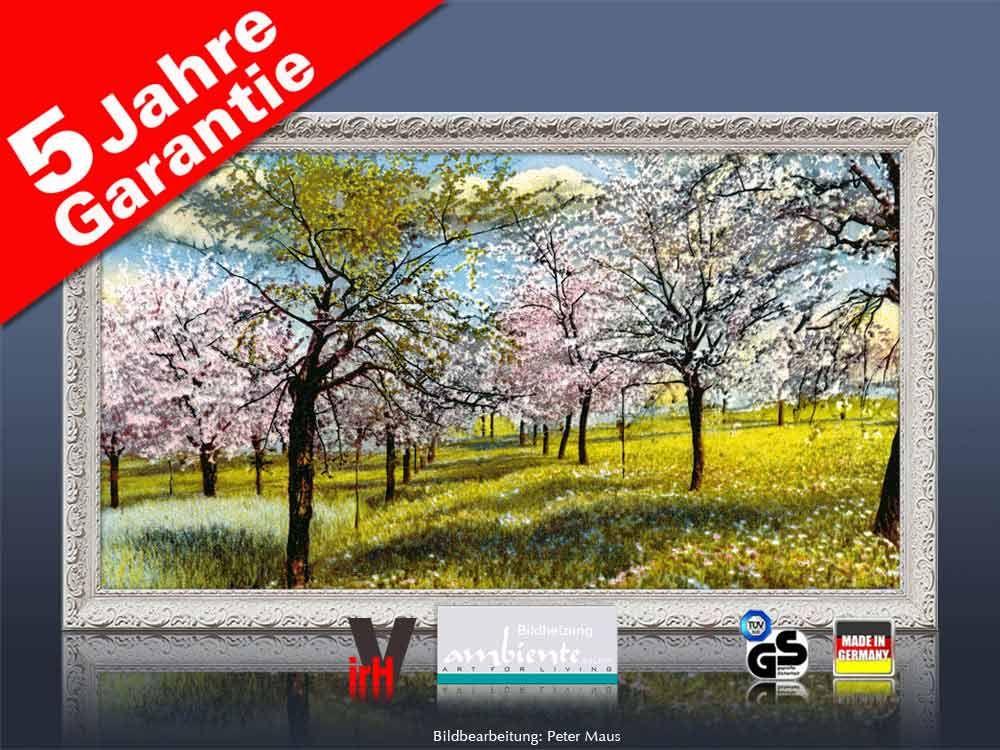 Infrarotheizung als Bild Bildheizung 600 Watt 110x60 StAw Baumblüte