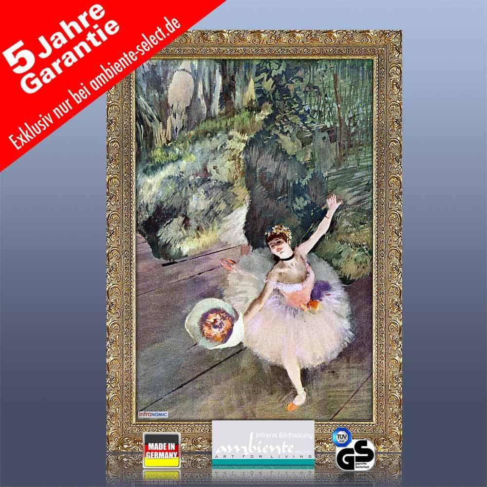 infrarot Bildheizung Kunst 500 Watt 90x60 StG Tänzerin mit Blumen