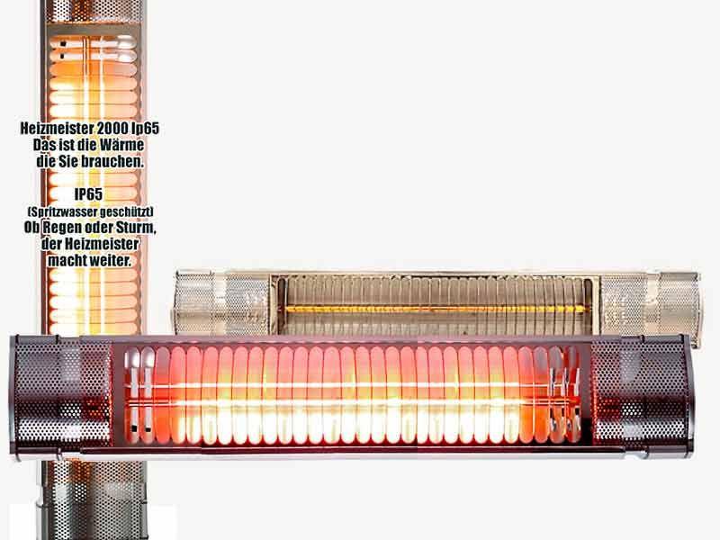 Infrarot Heizstrahler Ersatzröhre 1500 und 2000 Watt Heizmeister RC