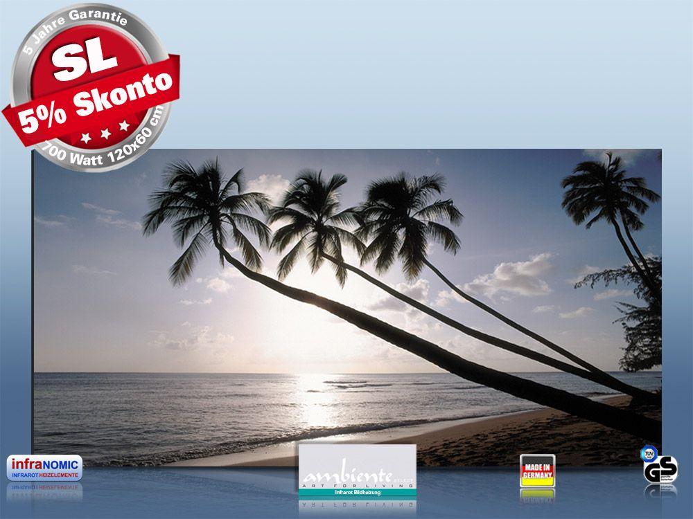 Infrarot Bildheizung 700 Watt Rahmenlos slim-line 120x60 Barbados