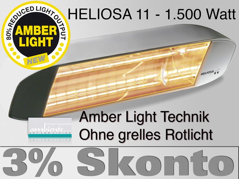 Infrarotstrahler Heliosa 11 Amber Light 1500 Watt IPX5