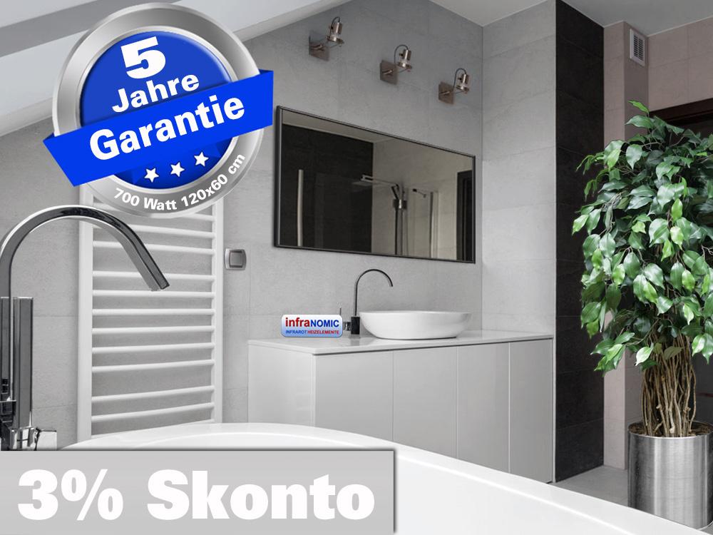 Infrarot Spiegelheizung Bad Heizung 10 Größen 210 bis 1400 Watt M10S