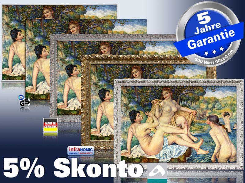 Infrarot Bildheizung Kunst 500 Watt 5 Rahmen Varianten Renoir