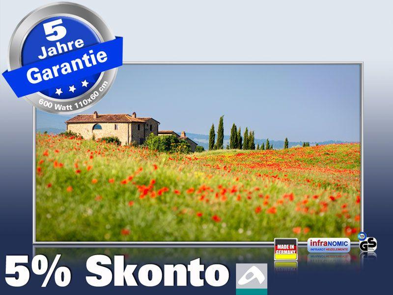 Infrarot Bildheizung 600 Watt 110x60 M10-SL Toskana