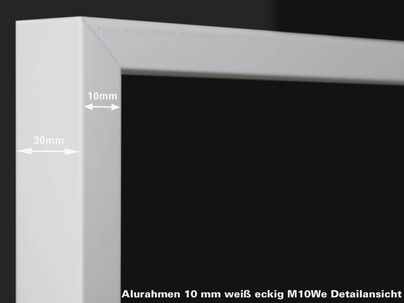 Aufpreis Alurahmen weiß eckig M10W alle Größen