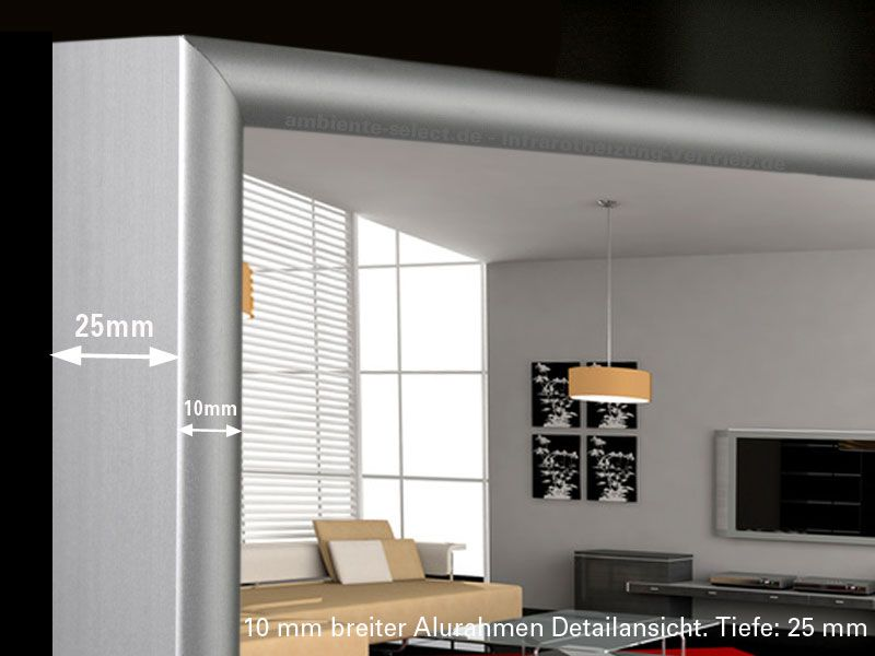infrarot spiegelheizung 210 watt mit thermostat. Black Bedroom Furniture Sets. Home Design Ideas
