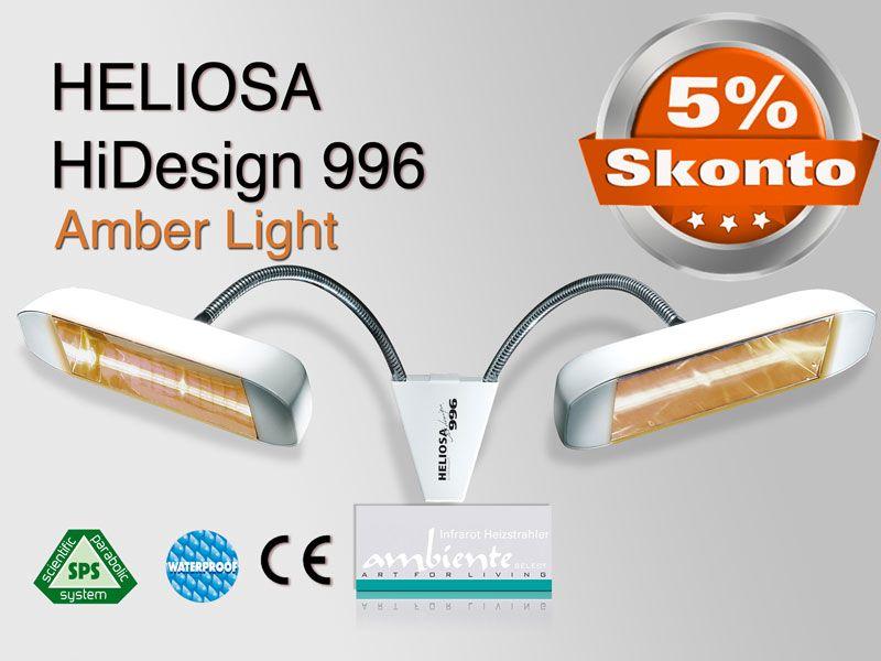 Infrarotstrahler Heliosa HiDesign 996/997 IPX5 Amber Light Flexarm 2,0KW