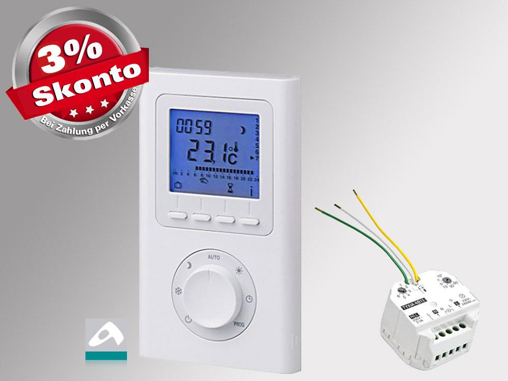 Funkthermostat Set Delta Dore Smart Home fähig mit Unterputz Empfänger