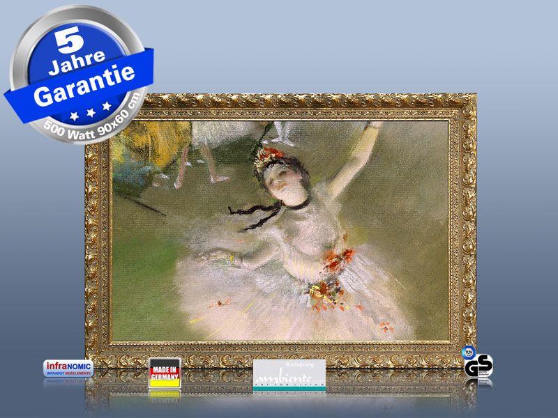 infrarot Bildheizung 500 Watt 90x60 StG Primaballerina Ausstellungsstück