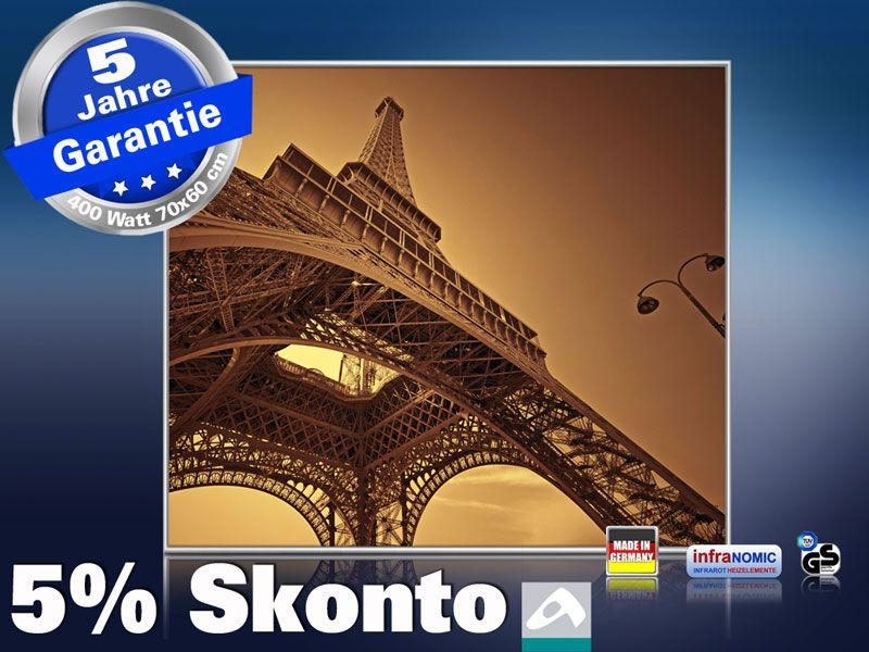 Infrarot Bildheizung 400 Watt 70x60 M10-SL Eiffelturm