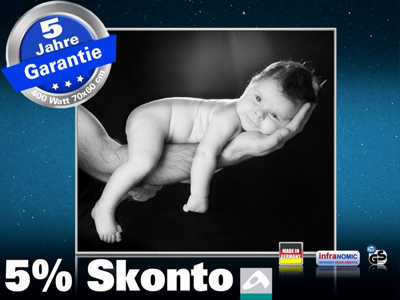 Infrarot Bildheizung 400 Watt 70x60 M10-SL Baby