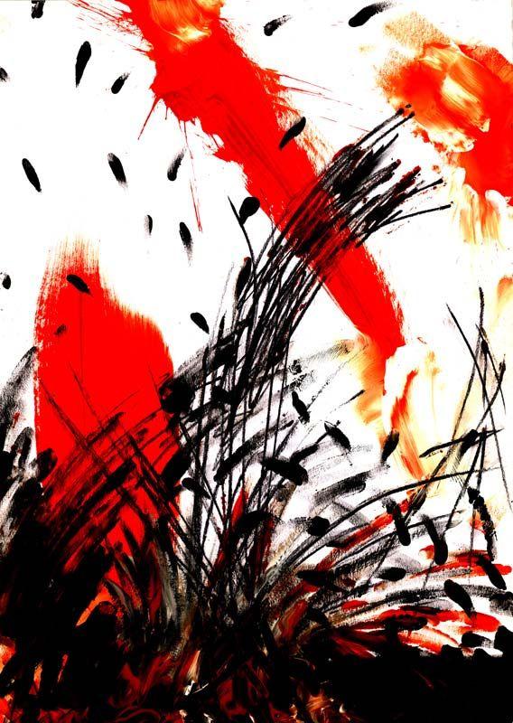 Bildheizung-Motiv Abstrakt 03 Hochformat für Standard Infrarotheizung