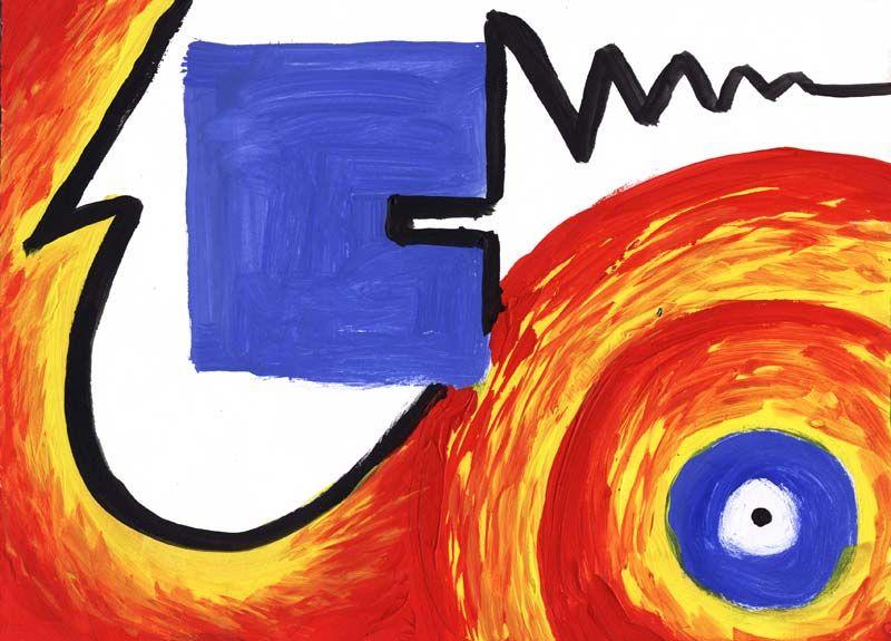 Bildheizung-Motiv Abstrakt 01 für Standard Infrarotheizung