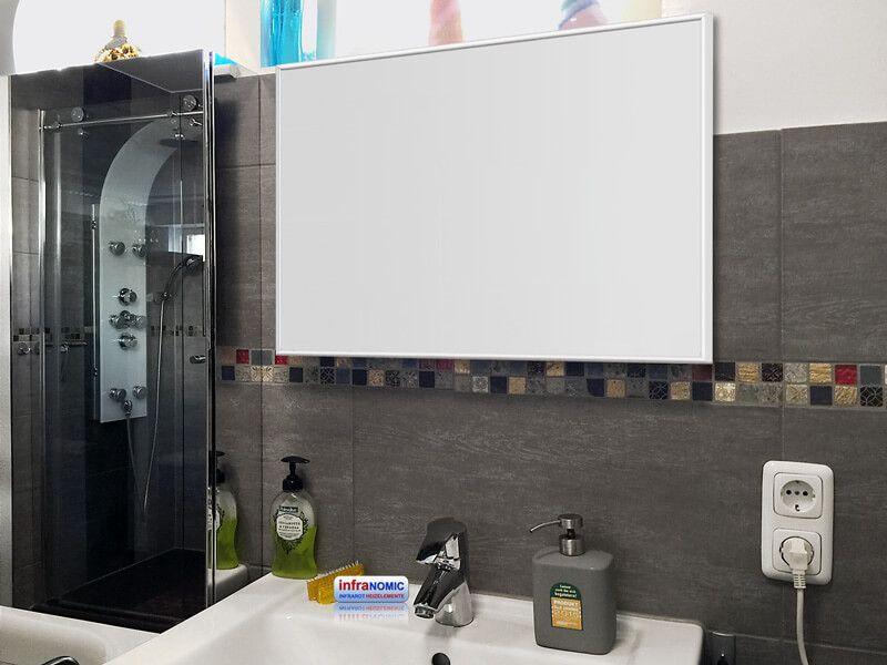 infrarotheizung 500 watt schwarz alurahmen 10 mm. Black Bedroom Furniture Sets. Home Design Ideas
