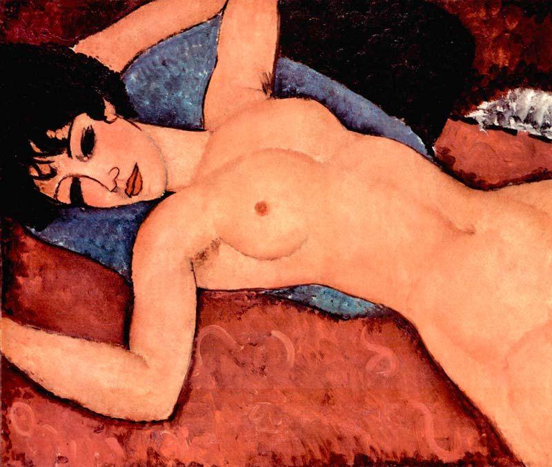 Modigliani: Liegender Akt Bildauswahl für Bildheizung 70x60