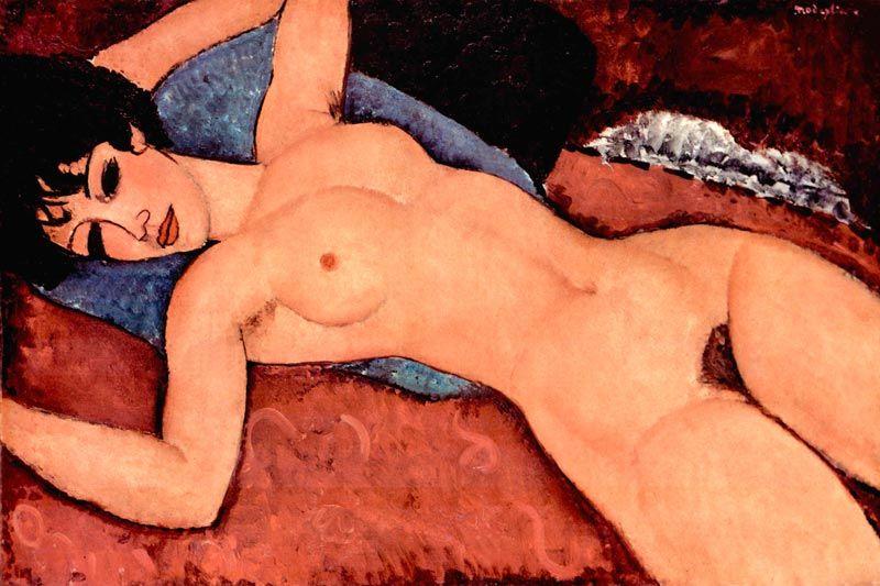 Modigliani: Liegender Akt Bildauswahl für Bildheizung 90x60