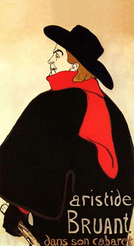 Lautrec: Henri de Aristide Bruant für Infrarot Bildheizung 60x110