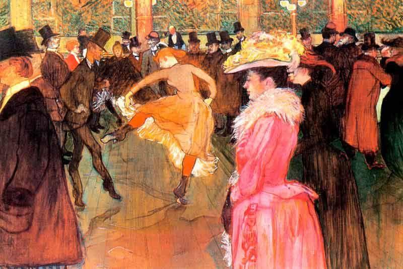 Lautrec: Ball im Moulin Rouge Bildauswahl für Bildheizung 90x60