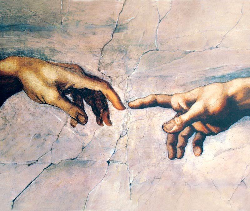 Michelangelo: Erschaffung Adams Bildauswahl für Bildheizung 70x60