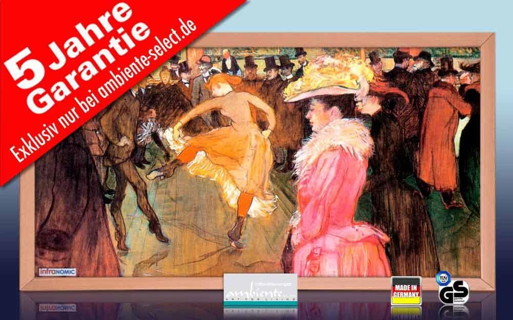 Infrarot Bildheizung Kunst 600 Watt 110x60 HB30 Ball im Moulin Rouge