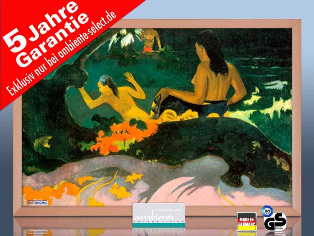 infrarot Bildheizung 500 Watt 90x60 HB30 Fatata te miti (Gauguin)