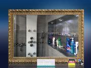 Infrarot Spiegelheizung Bad 500 Watt 90x60 Stilrahmen StG