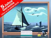 infrarot Bildheizung 500 Watt 90x60 Holzrahmen HB30 Segelboot