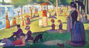 Seurat: Ein Sonntag Kunstmotiv für Infrarot Bildheizung 110x60