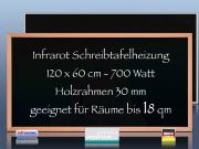 Infrarot Tafelheizung 700 Watt 120x60 mit Holzrahmen Buche HB30