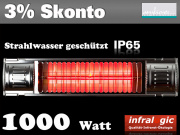 Infrarot Heizstrahler 1000 Infralogic Heizmeister Professionell IP65