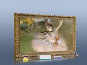 infrarot Bildheizung Kunst 500 Watt 90x60 StG Primaballerina (Degas)