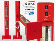 BURDA SMART TOWER BHST30 IP20 rot mit integriertem Dimmer