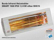 Burda Infrarot Heizstrahler SMART 1500 IP20 1,5 KW Silber BHS15-3