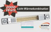 Burda Infrarot Heizstrahler 2000W mit Licht TERM2000 L&H RLH1765