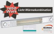 Burda Infrarot Heizstrahler 1650W mit Licht TERM2000 L&H RLH1765F