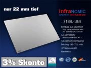 Infrarotheizung Rahmenlos Metall 1060 Watt 170x57 steel-line IPX4