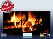 Infrarotheizung als Bild Bildheizung 700 Watt 120x60 M10-SL Kaminfeuer