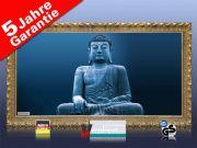 Infrarot Bildheizung 700 Watt 120x60 Stilrahmen StG Buddha blau