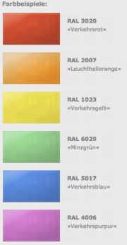 Aufpreis für farbige Front nach RAL für Infrarotheizung 900 Watt