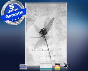 infrarot Bildheizung 500 Watt 90x60 M10-SL Abstract-Blume
