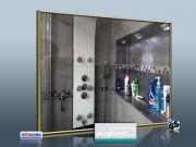 Infrarot Spiegelheizung Bad 400 Watt 70x60 Messingrahmen M10M