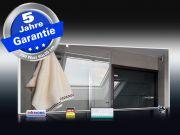 Infrarot Spiegelheizung Bad 250 Watt 90x35 Rahmen weiß M10W