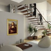 infrarot Bildheizung 500 Watt 90x60 Stilrahmen StG Mona Lisa