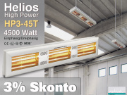 High Power Infrarot Wärmestrahler Helios HP3-45T IP20 4500 Watt
